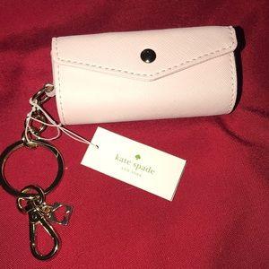 New Kate Spade New York lipstick keychain holder